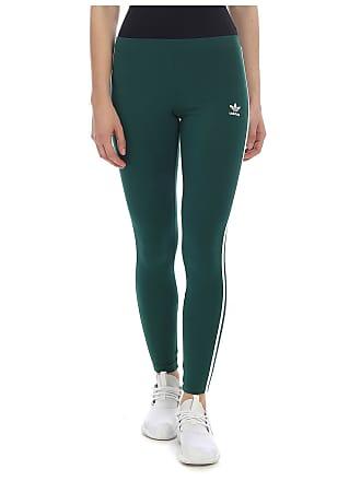 4666a3aea34 adidas Originals 3-Stripes leggings in green