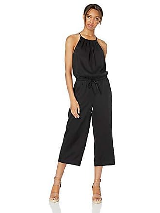 Daily Ritual Womens Tencel Halter Jumpsuit, Black, 6