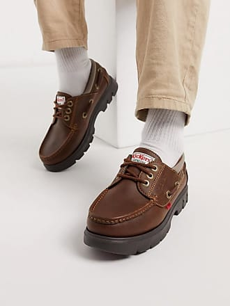 Kickers lennon boat shoes in brown leather