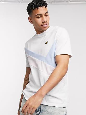 Lyle & Scott Archive - T-shirt bianca con pannello-Bianco