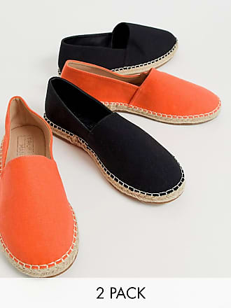 Truffle two pack espadrilles in black and orange - Multi