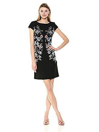 9ee5b3e4632 Sandra Darren Womens 1 Pc Cap Sleeve Printed Puff Bullet Sheath Dress