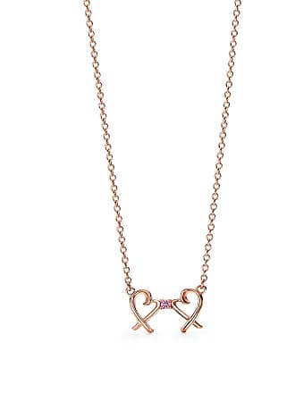 b5de2be92 Tiffany & Co. Paloma Picasso Double Loving Heart pendant in 1rose gold with  a pink