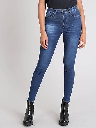 Sawary Calça Jeans Feminina Sawary Sculp Super Skinny Azul Escuro