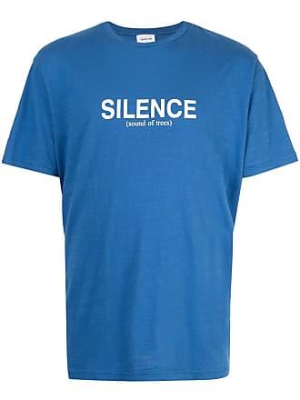 Wood Wood Camiseta Perry com estampa - Azul