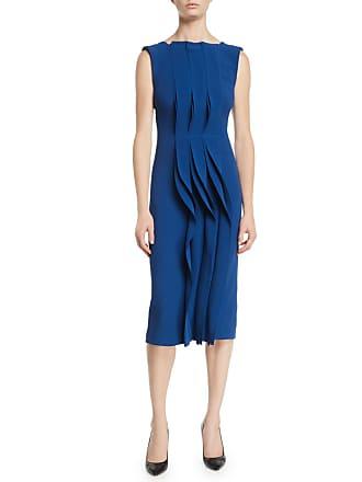 e49b572d7544 Jason Wu Sleeveless Ruched Fluid Evening Jersey Sheath Dress