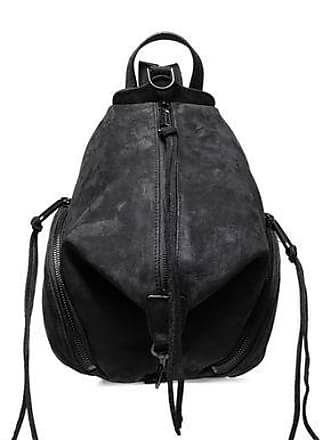 Rebecca Minkoff Rebecca Minkoff Woman Julian Convertible Textured-suede Backpack Black Size