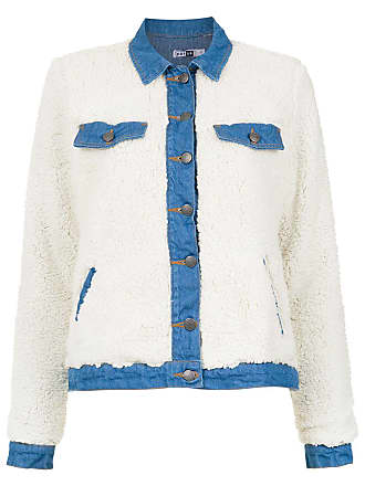 Pop Up Store Jaqueta jeans com pelos - Branco