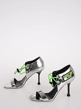 Prada 8cm Silver Tone Sandals Größe 35,5