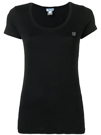 Blumarine Camiseta decote em U - Preto