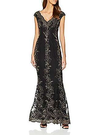 fe105ce099 Quiz Black/Gold Embroidery Maxi, Vestito da Sera Donna, Nero, 42 (