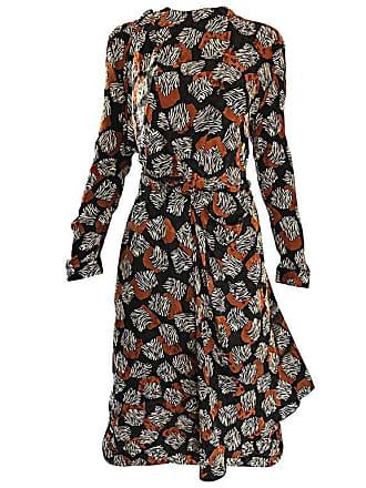 422dc27d656e3 Escada Chic Vintage Escada By Margaretha Ley Brown And Black Zebra Print  Silk Dress