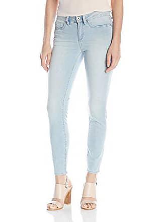 Yummie Tummie Modern Mid Rise Slimming Ankle Denim Jeans, Baby Blue, 33
