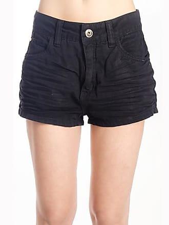 0859042f3 Preto Shorts Jeans  Compre com até −68%