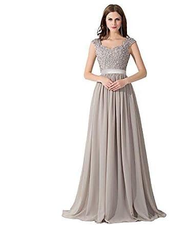 5f9b8f32256a9 MisShow Hochwertig Damen langes Abendkleid Partykleider CocktailKleid  Spitzenkleid bodenlang V-Ausschnitte Gr.40