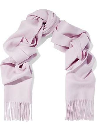 N.Peal N.peal Woman Fringe-trimmed Cashmere Scarf Lilac Size