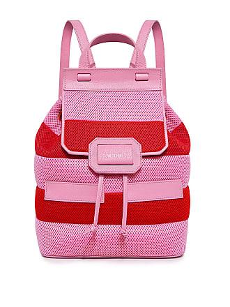 Moschino Honeycomb Striped Backpack Stripe
