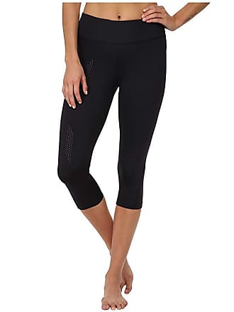 2XU Mid-Rise Compression 3/4 Tight (Black/Dotted Black Logo) Womens Workout