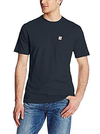 Carhartt Work in Progress Mens Maddock Pocket Short Sleeve T-Shirt,Navy,Large