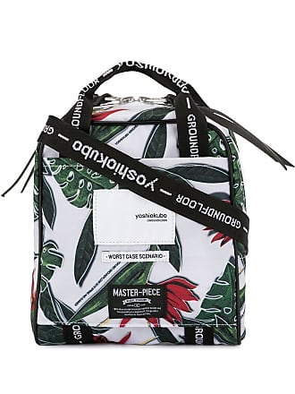 Yoshiokubo floral print messenger bag - White