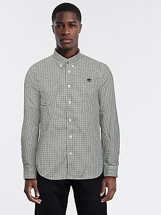 Timberland gingham dobby long sleeve shirt-Green