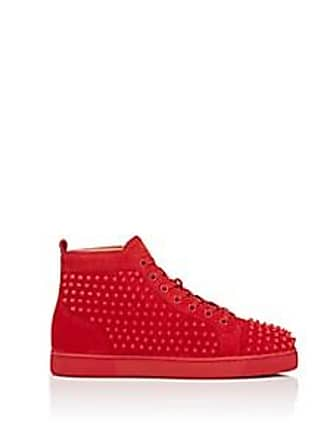 1f6a62dac562 Christian Louboutin Mens Louis Flat Suede Sneakers - Red Size 9 M. In high  demand