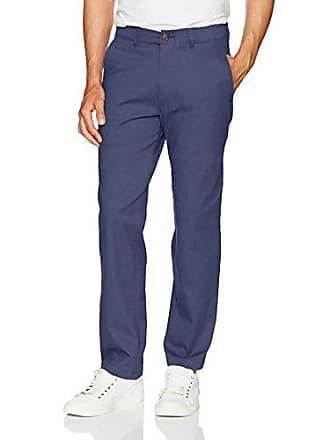 Haggar Mens Coastal Comfort Classic Fit Superflex Waist Flat Front Pant, Blue, 40Wx31L