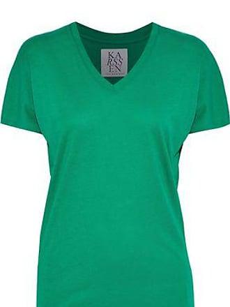 Zoe Karssen Zoe Karssen Woman Printed Modal And Cotton-blend Jersey T-shirt Green Size L