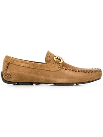 Salvatore Ferragamo Gancini driver mocassins - Brown