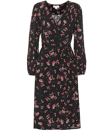 Velvet Pomona floral crêpe wrap dress