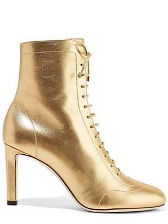 42ee4a67a4c Jimmy Choo London Jimmy Choo Woman Daize 85 Lace-up Metallic Leather Ankle  Boots Gold