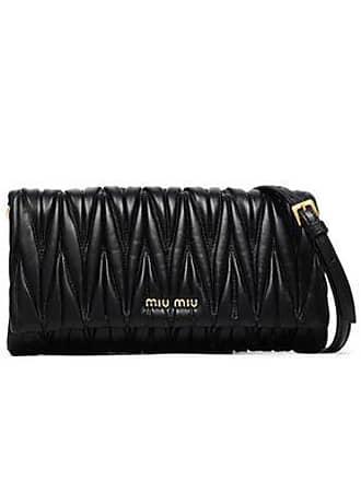 8a4d0e3cf Miu Miu Miu Miu Woman Matelassé Leather Shoulder Bag Black Size