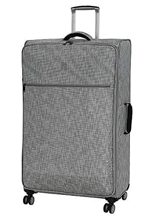 IT Luggage 34.4 Stitched Squares Lightweight Case, Flint Grey