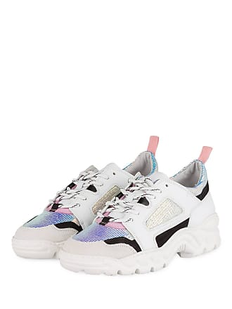 17ec4b45f21c96 D.A.T.E. Plateau-Sneaker PROZAC COLORED - WEISS  SILBER  SCHWARZ