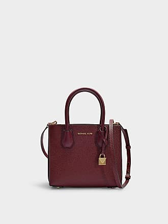 Michael Michael Kors Sac Messenger Mercer Accordion en Cuir de Veau Grainé  Bordeaux 2e7b55809a8