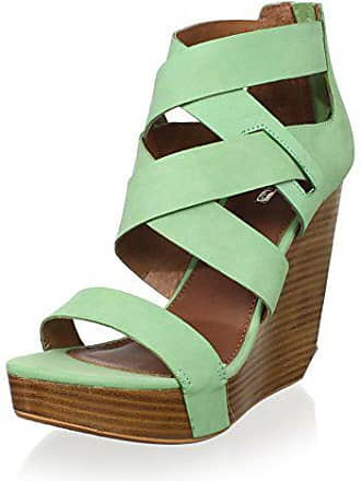 69041243e8 Matiko Womens Stacey Strappy Wedge, Peppermint, 9 M US