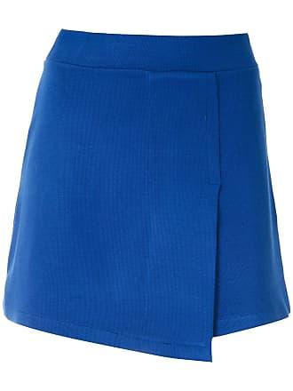 Magrella Saia transpassada de tricô - Azul