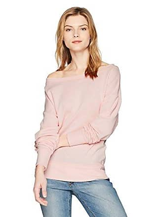2(x)ist Womens French Terry Boatneck Sweatshirt Sweater, English Rose, X-Large