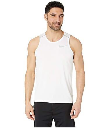 464a3c3b Nike Dry Miler Tank Top (White/Vast Grey/Reflective Silver) Mens Sleeveless