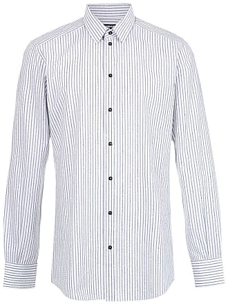 Dolce & Gabbana Camisa mangas longas listrada - Branco
