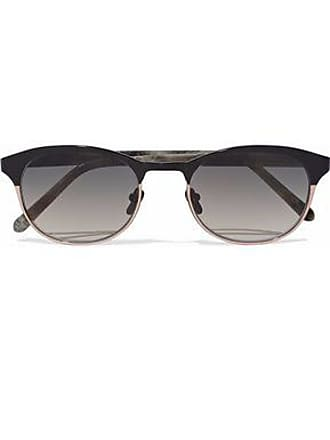 d21082c1b481 Linda Farrow Linda Farrow Woman D-frame Acetate And Rose Gold-tone  Sunglasses Gray