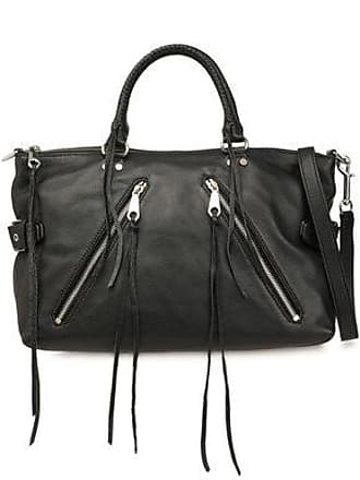 Rebecca Minkoff Rebecca Minkoff Woman Zip-detailed Textured-leather Shoulder Bag Black Size