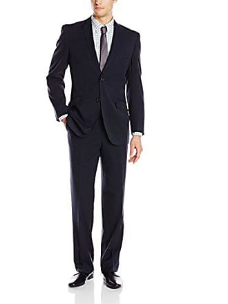 U.S.Polo Association Mens Nested Suit, Solid Classic Navy, 40 Regular