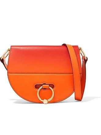 J.W.Anderson Latch Dégradé Smooth And Textured-leather Shoulder Bag - Orange