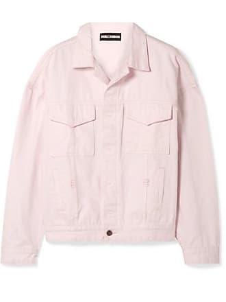 Double Rainbouu Oversized Denim Jacket - Pastel pink