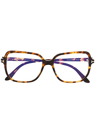 Tom Ford Eyewear oversized frame glasses - Brown