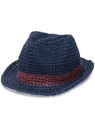 Paul Smith contrast stripe woven hat - Blue