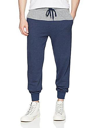 2(x)ist Mens Colorblock Pant with Mesh Detail Pants, Estate Blue Heather/Heather Grey, Large