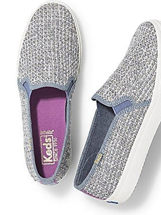 Keds Womens Double Decker Sequin Knit Fashion Sneaker,Gray,5.5 M US