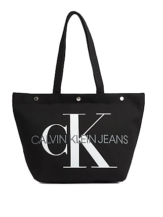 f6afb627db Calvin Klein BORSA CANVAS UTILITY EW BOTTOM TOTE M DONNA